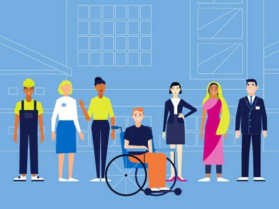 We are so different, but equal! discrimination work people equality design illustration corporate video production corporate video company best corporate videos animated videos for business animated video company animated video