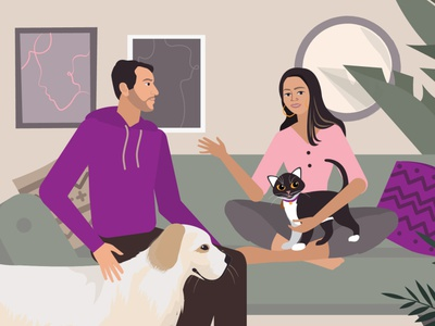 Take care of your pet remotely pat care dog cat pets design animated videos for business animated marketing videos