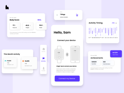 Fitness app UI elements app mobile app fitness ux design typography uidesign colors creative design