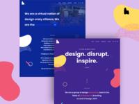 New Website Launch webdesign new website hello dribbble creative agency uidesign illustration branding typography hyfenstudio creative design