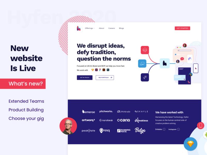New Website creative agency colors uidesign design agency creative ux branding ui logo hyfenstudio
