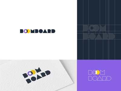 Boomboard Logo Options icon illustration web wordmark logo typography branding vector colors creative design