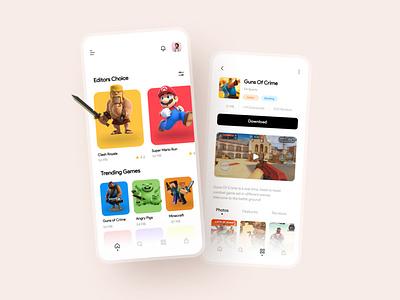 Games Store UI colorful colors mobile ui playstore game ui games play store app store icon store app store game design game