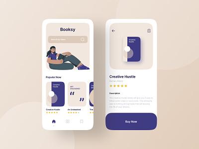 Booksy - Ebook Reader typography minimal illustration creative agency branding vector uidesign colors design creative