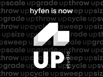 Hyfen is going UP! minimal web ux design creative agency branding vector uidesign colors design creative new new agency