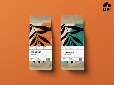 Coffee Package Design coffee bean packaging design minimal illustration ux typography ux design uidesign colors design creative