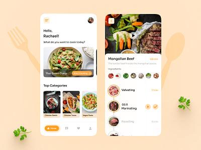 Recipe app design ux vegetables food recipe app app uidesign creative agency ux design branding colors creative