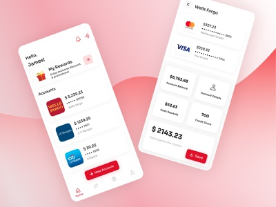 FinTech- Bank Accounts Management App money management fintech logo money banks banking app fintech app app web ui ux design creative agency uidesign colors design creative
