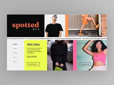 Fashion Landing Page clothing brand brand identity ecommerce landing page design website design webdesign ui colors typography fashion brand branding uidesign