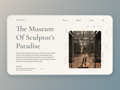 Austere Web Design colors uidesign branding website ux ui ux design elegant classy vintage design creative