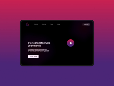 Social Media Landing Page Animation figma adobeaftereffects interaction microanimation animation ui logo vector ux design creative agency uidesign colors design creative