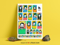 Popart Character Illustrations Set