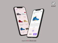 Goat Sneakers Ecommerce App UI Redesign
