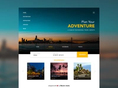 Travel website Concept.