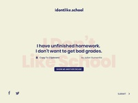 I Dont Like School — Excuse Generator UI