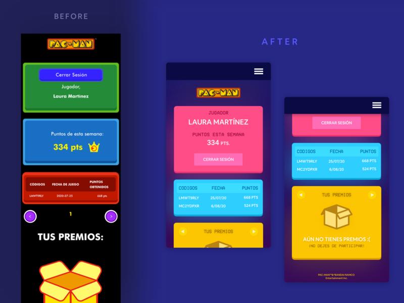 Sabritas x Pacman Redesign mexico website design landing profile pixel retro retrowave synthwave vaporwave sabritas website mobile ui redesign neon pacman 1980s