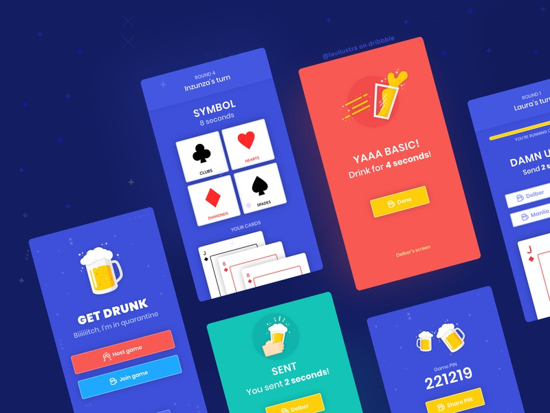 Get Drunk – The Game tipsy bar poker deck of cards cards drink shots wine brewery beer pong ui beer drunk drinking game drinking