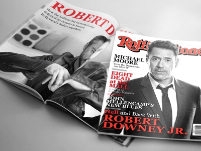 Magazine Mockup | Rolling Stone lettering website type flat web icon article advertisement identity assets ad brand design typography branding