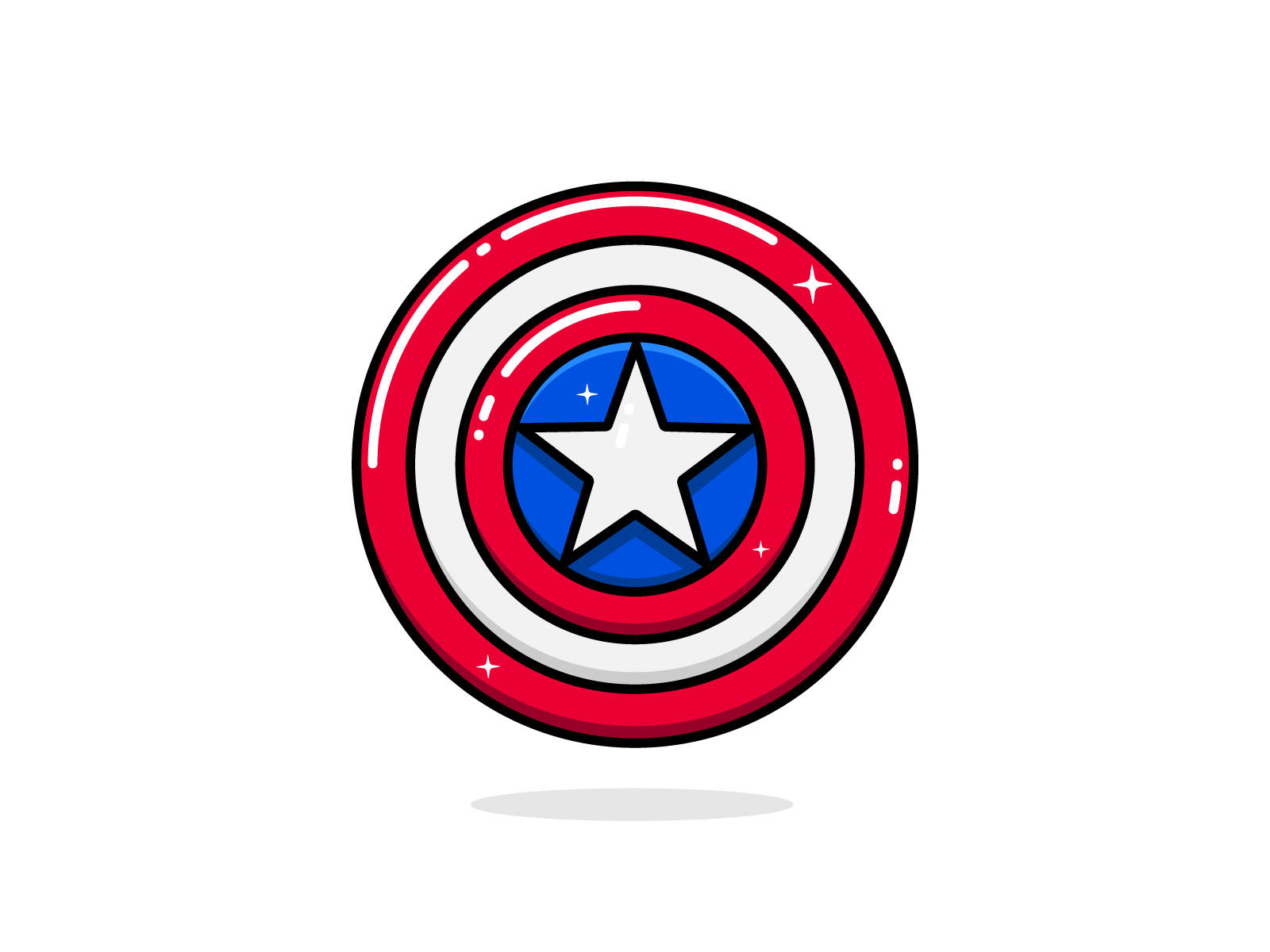 Captain America Shield By Manali On Dribbble