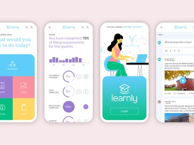 Learnly App Screens