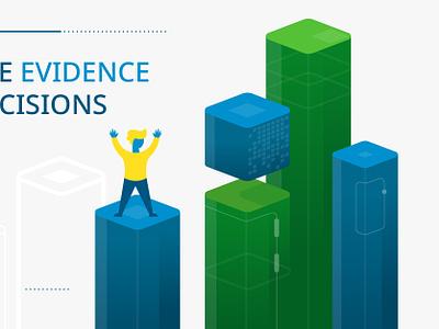 Data Visualization 4 of 4 chart skyscraper green data viz blue character design vector illustration