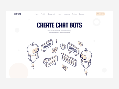 Chat Bots chat bot chatbot website design web design webdesign website web