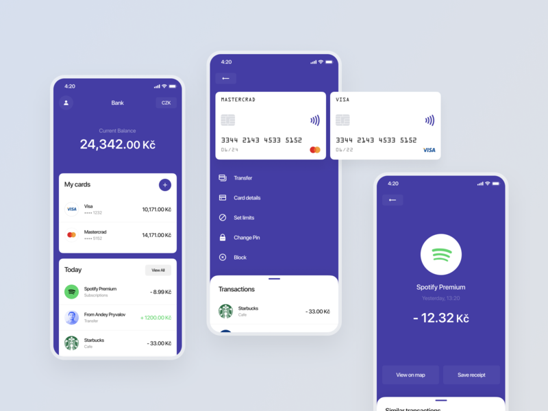 Banking Application mobile app design mobile design mobile app mobile ui mobile banking bank app banking app fintech app bank fintech