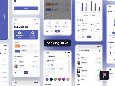 Banking. ui kit fintech app fintech gumroad ui8net ui8 kit8 mobile app design mobile design mobile app mobile ui mobile ui kit design ui kits ui kit uiux ui design