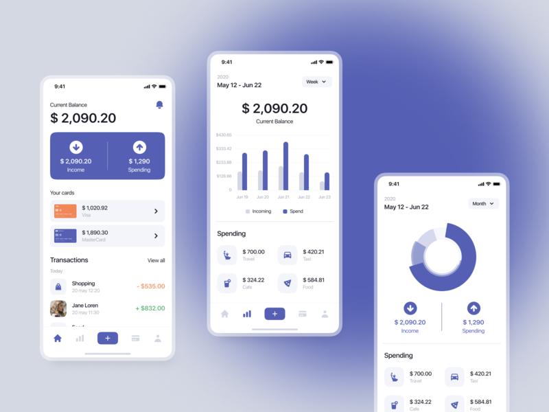 Banking. ui kit ui kit uikit kit8 kit ui8net ui8 gumroad mobile ui ux fintech app interface design mobile app design mobile app fintech ui mobile