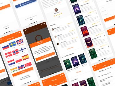 Redesign concept Storytel / 1 Shot 🎧🎧🎧 mobile interface ui ux design