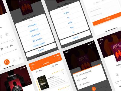 Redesign concept Storytel / 2 Shot 🎧🎧🎧 mobile interface ui ux design
