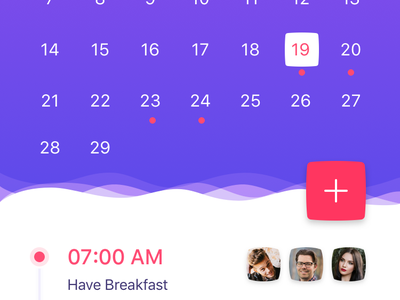 Daily UI #02 - Kalendar [FREE SKETCH] free calendar rubi