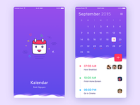 Daily UI #02 - Kalendar [FREE SKETCH]