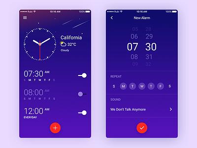Daily UI #03 - Klock [FREE SKETCH] rubi sketch download free clock
