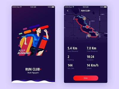 Daily UI #04 - Run Club+ [FREE SKETCH] download run fitness sketch free rubi