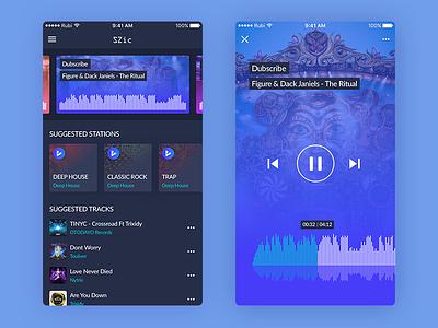 Daily UI #05 - SZic [FREE SKETCH] player free download music rubinguyen rubi sketch