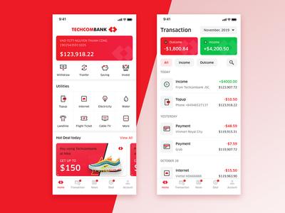 Techcombank iPhoneX App