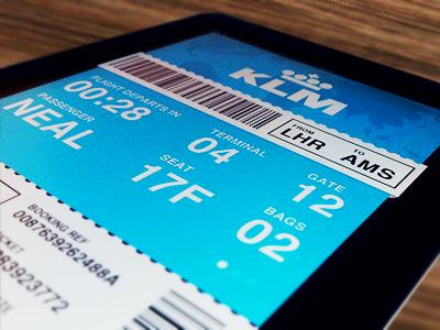 iPad Flight App plane travel ios ui booking ticket pass