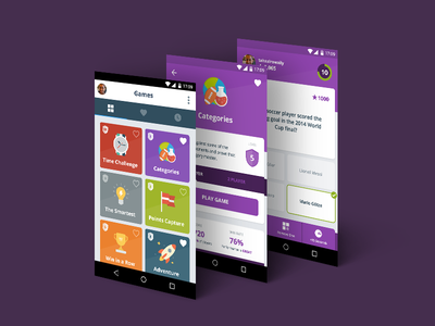QuizTime for Android android mobile lollipop material quiz game flat categories question