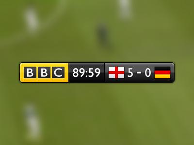 BBC Football heads up soccer score board tv sport timer