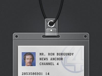 Lanyard PSD id badge sexpanther plastic holder card