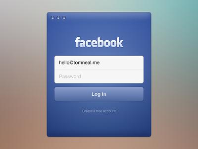 Facebook Login modal social form password button username field