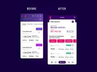 Pi Investimentos Redesign app flat design mobile ux ui