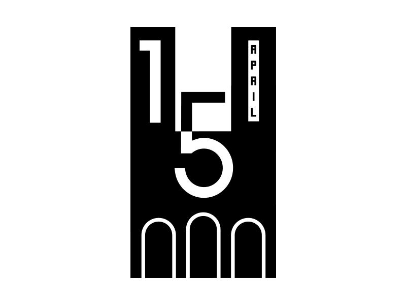 Notre-Dame de Paris 15 April icon design typo graphicdesign church notredamedeparis april 15 paris notre dame illustration minimallogo vector logo arainspire logoidentity minimal branding logomk creative