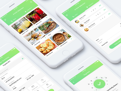 Restaurants vector ux ui logo icon illustrations flat design branding animation app