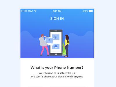 SignIn Screen web vector ux ui logo icon illustrations flat design branding animation app