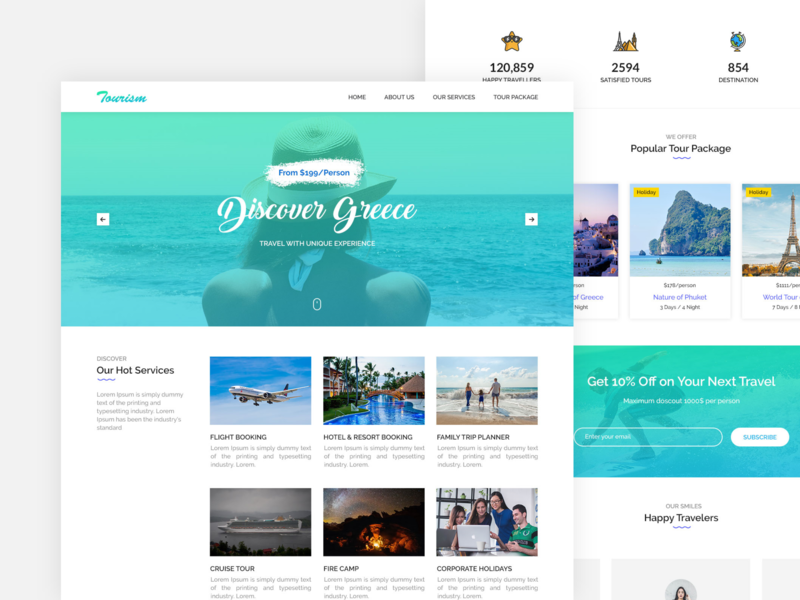 Freebie Travel website template - XD & PSD xd free psd freebie xd website webapp freebie free design