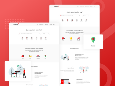 Passporr - Search Engine flat ux ui typography illustration branding web app