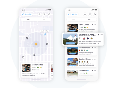 Location Based Social App illustration design ux ui app