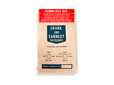 Frank and Earnest Crafted Coffee identity logo artisan coffee retro hipster vintage packaging branding